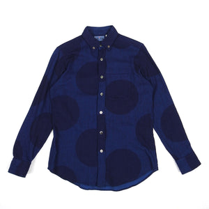 Blue Blue Japan Polka Dot Shirt Blue Size 2