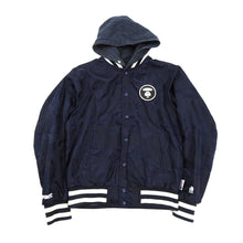 Load image into Gallery viewer, A Bathing Ape Reversible Blue Camo Hooded Bomber Jacket