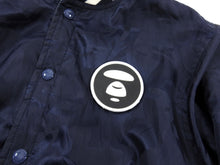 Load image into Gallery viewer, A Bathing Ape Reversible Blue Camo Hooded Bomber Jacket - M