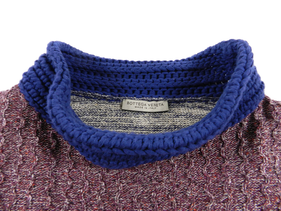 Bottega Veneta Red Heather Multi Colour Knit Sweater - M