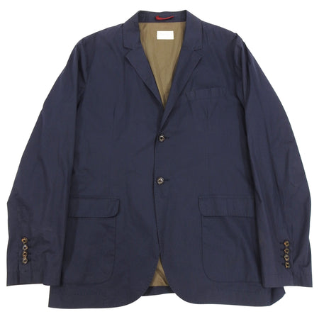 Brunello Cucinelli Navy Cotton Light Sports Jacket