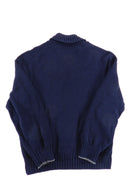 Brunello Cucinelli Navy Knit Button up Cardigan - 38