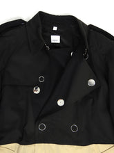 Load image into Gallery viewer, Burberry SS'19 Two Tone Trench Black/Beige 54