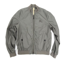 Load image into Gallery viewer, Burberry Brit Grey Light Nylon Windbreaker Bomber Jacket