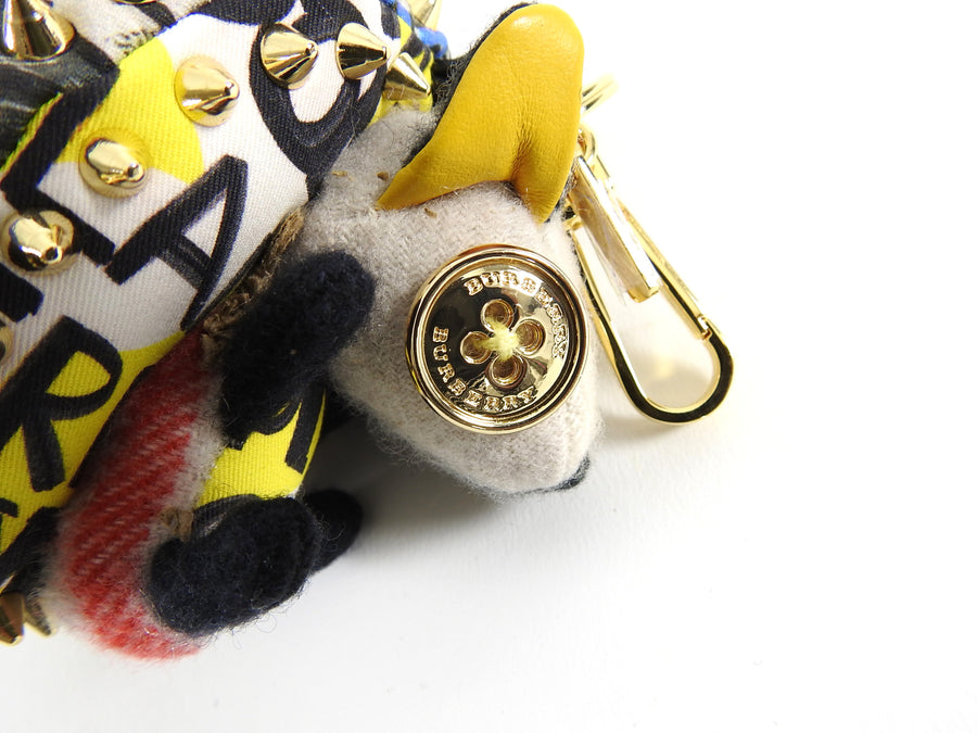 Burberry Bob The Hedgehog Graffiti Print Keychain Charm