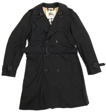 Load image into Gallery viewer, Burberry London Black Kensington Heritage Long Trench Coat