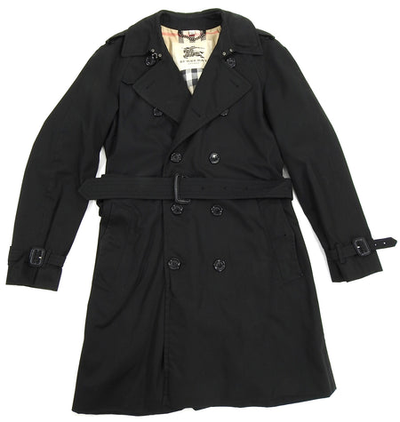 Burberry London Black Kensington Heritage Long Trench Coat