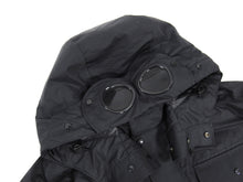 Load image into Gallery viewer, C.P. Company Black Down Parka With Built-in Goggles  - XXL