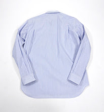 Load image into Gallery viewer, Comme Des Garcons Homme Plus Blue Pinstripe Rubber Graphic Shirt - M