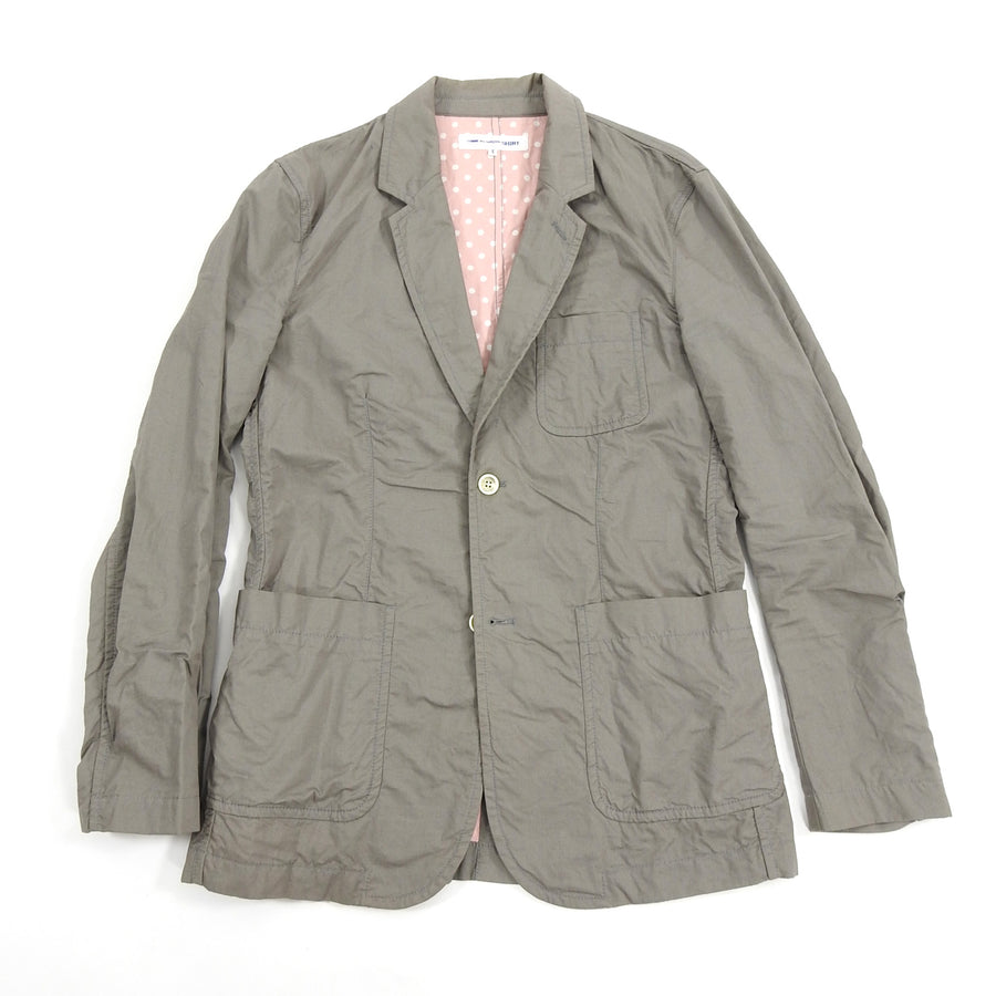 Comme Des Garcons Shirt Light Grey Cotton Twill Workwear Blazer