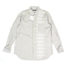 Load image into Gallery viewer, Comme Des Garçons Homme Plus 2001 Embroidered Stripe Shirt Fits L/XL