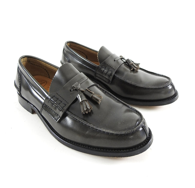 Church's Dark Grey Tassel Slip on Loafer Shoes