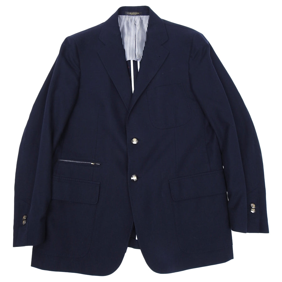 Corneliani Navy Zip Pocket Formal Blazer - M