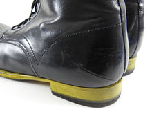 Load image into Gallery viewer, Costume National Black and Yellow Sole Lace Up Ankle Boots - 11