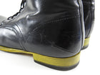 Costume National Black and Yellow Sole Lace Up Ankle Boots - 11