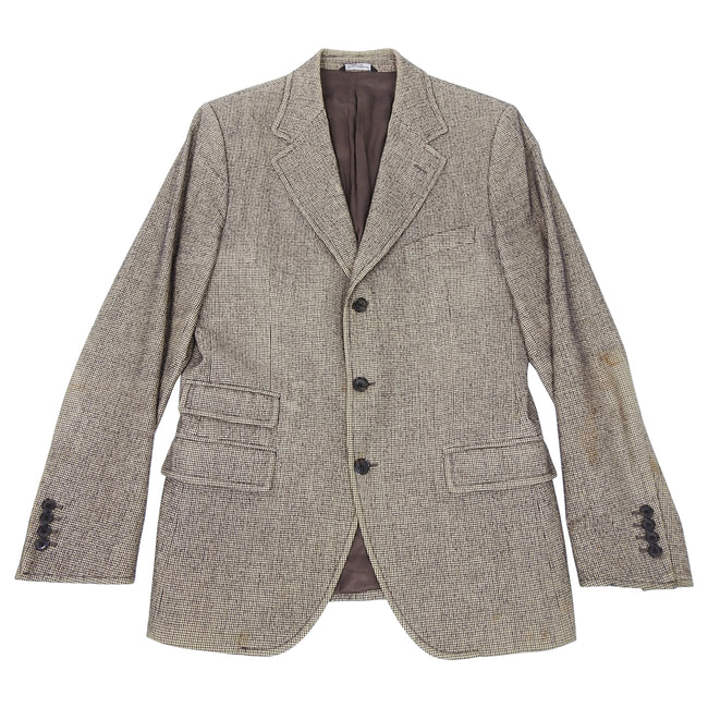 Dolce & Gabbana Herringbone and Denim Detail Blazer - 40