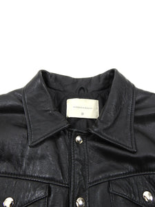 Deadwood Black Leather Coach Jacket - S