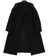 Load image into Gallery viewer, Dior Homme Black Cashmere Blend Raw Edge Coat - M