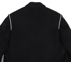 Dior Homme Black Cashmere Blend Raw Edge Coat - M