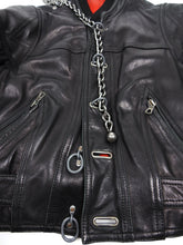 Load image into Gallery viewer, Dirk Bikkembergs Vintage Leather Bomber Black Size 52