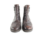 Dsquared Brown Distressed Leather Side Zip Ankle Boots - 10