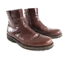 Load image into Gallery viewer, Salvatore Ferragamo Burgundy Soffio Side Zip Leather Boot