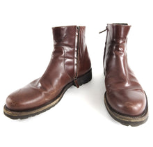 Load image into Gallery viewer, Salvatore Ferragamo Burgundy Soffio Side Zip Leather Boot - 11