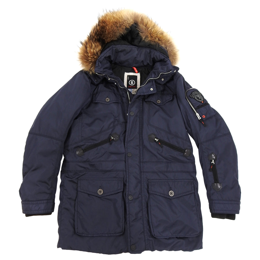 Bogner Fire and Ice Navy Ski Parka with Fur Trim Hood