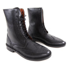 Florsheim by Duckie Brown Black Leather Oxford Lace up Ankle Boots