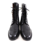 Florsheim by Duckie Brown Black Leather Oxford Lace up Ankle Boots - 10