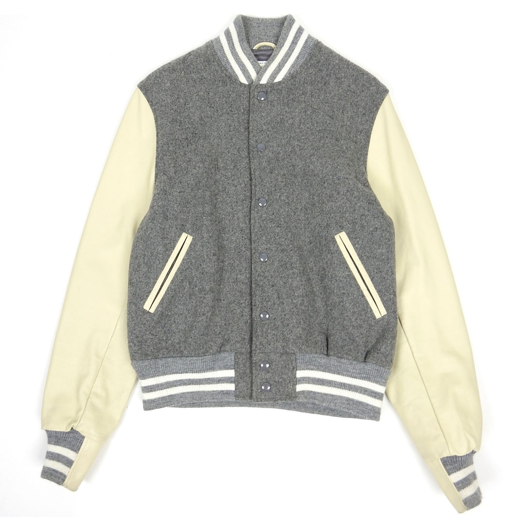 Golden Bear Varsity Jacket Grey/Cream Medium
