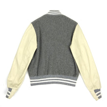 Load image into Gallery viewer, Golden Bear Varsity Jacket Grey/Cream Medium