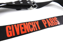 Load image into Gallery viewer, Givenchy Black and Red Canvas Logo Belt