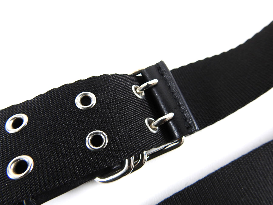 Givenchy Black and Red Canvas Logo Belt