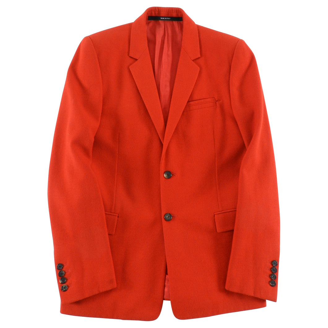 Givenchy Fall 2012 Red Wool Two Button Slim Fit Blazer- 36