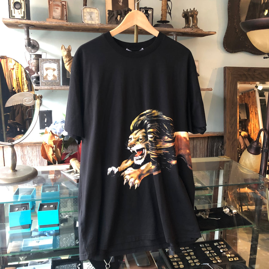 Givenchy Short Sleeve Black Lion Graphic Tee - L