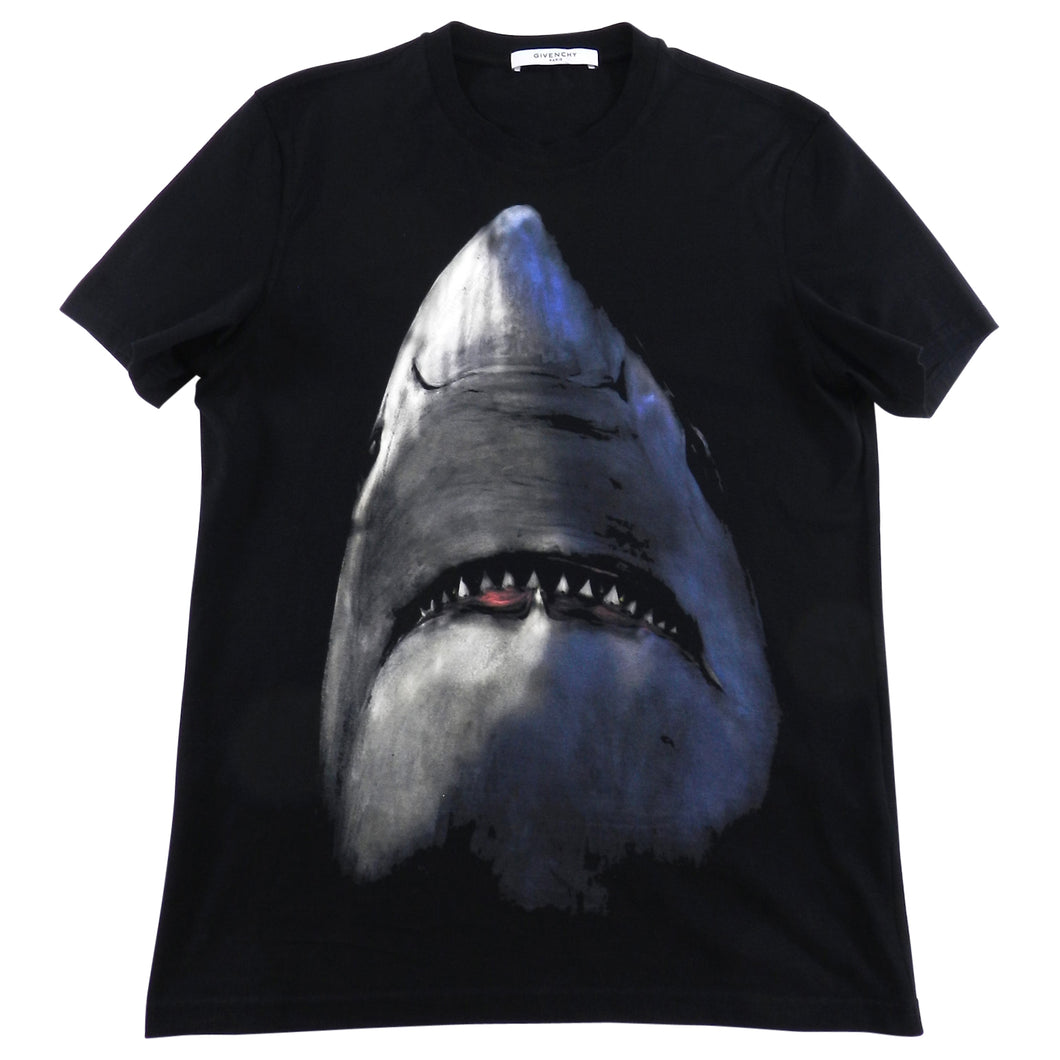 Givenchy Short Sleeve Black Shark Tee - M