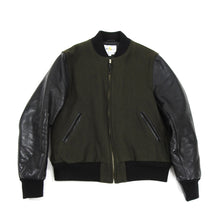 Load image into Gallery viewer, Golden Bear Green Wool Varsity Jacket