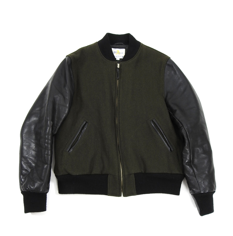 Golden Bear Green Wool Varsity Jacket