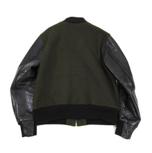 Load image into Gallery viewer, Golden Bear Green Wool Varsity Jacket - L