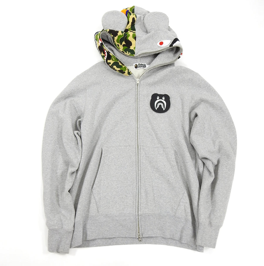 A Bathing Ape Shark Full Zip Hoodie Bearbrick Toy Collaboration