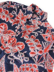 Gucci Print Button Up Navy/Red Size 43