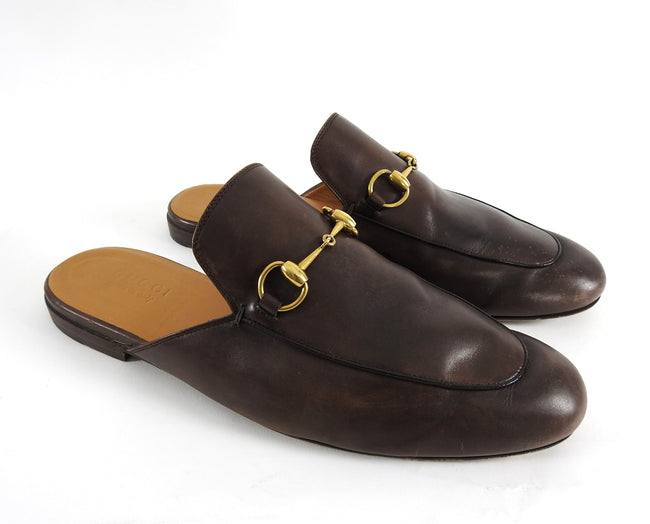 Gucci Horsebit Brown Slip-On Loafers