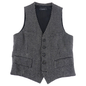 Gucci Black and White Wool Formal Vest - 36