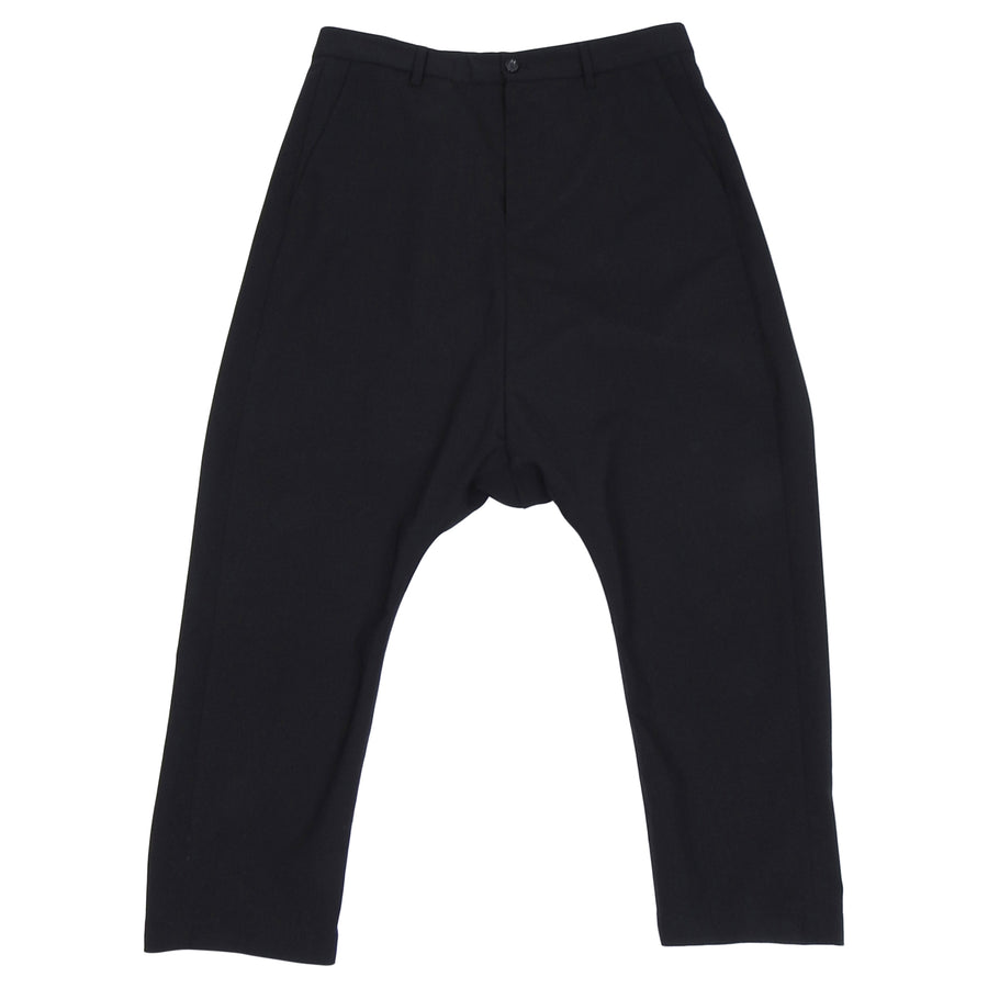 Hope Black Lightweight Slim Drop Crotch Trouser - 30