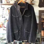 Shellac Raw Edge Pinstripe Parka Jacket - M