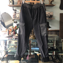 Load image into Gallery viewer, Dolce & Gabbana Black Striped Cargo Trousers - S