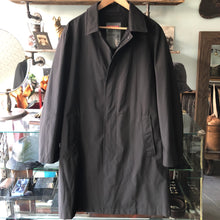 Load image into Gallery viewer, Prada Long Lightweight Black Shell Mac Coat - M