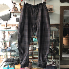 Load image into Gallery viewer, Vivienne Westwood Navy Grey and Brown Plaid Cropped Trousers - 32