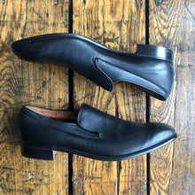 Load image into Gallery viewer, Alan McAfee England Black Leather Slip on Dress Shoes - 12.5